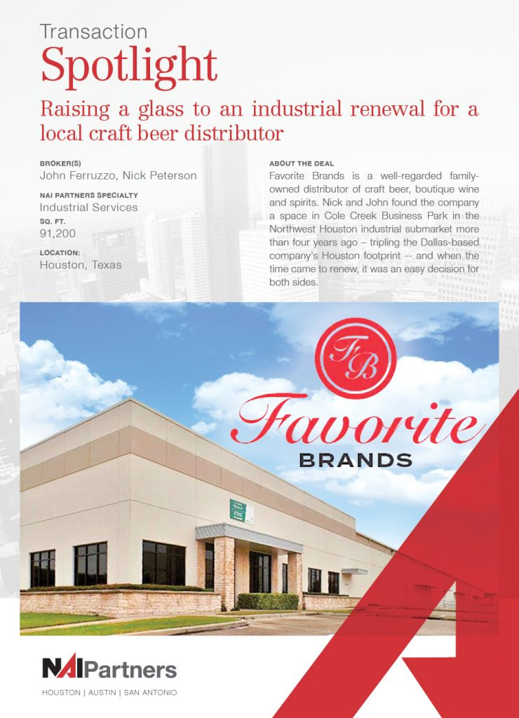 Houston Industrial Commercial Real Estate Transacton Spotlight