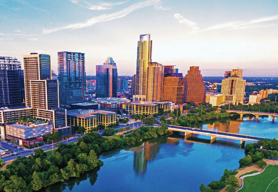 Austin Commercial Real Estate Top Lease Negotiation Considerations - Austin skyline - - using the landlord's professionals