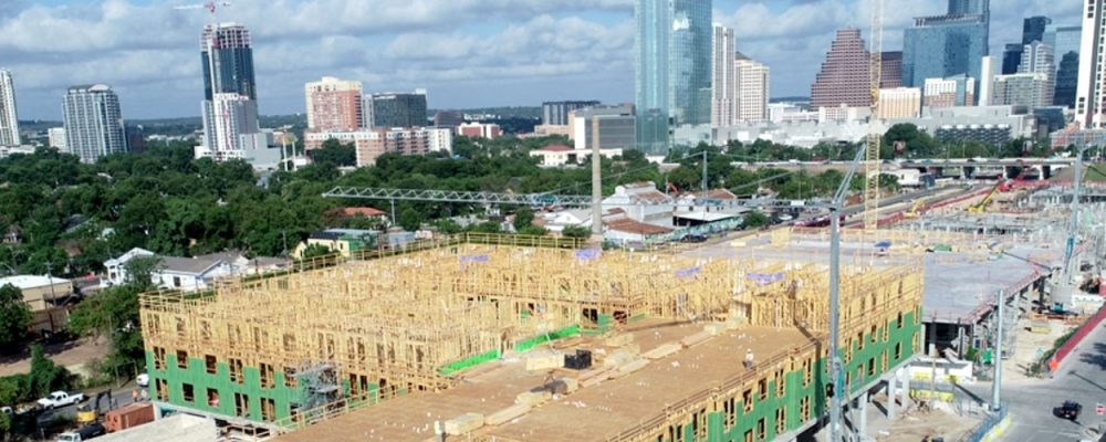 Austin Retail Commercial Real Estate Market Quarterly Report Economic Data and Information - Plaza Saltillo construction