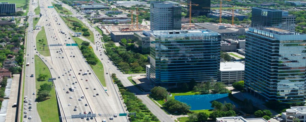 Houston Office Market Commercial Real Estate Economic Data and Information - Westchase spotlight aerial