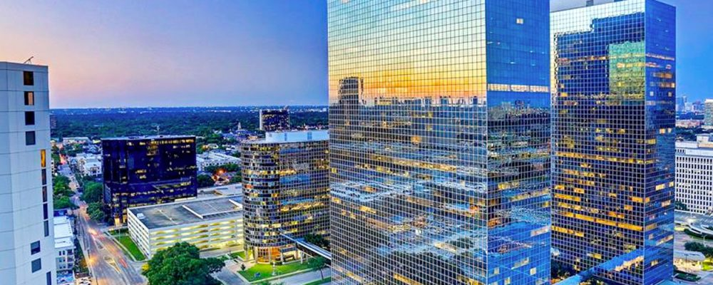 Houston Office and Greenway Plaza Office Commercial Real Estate Market Data and Economic Information - hero image office buildings