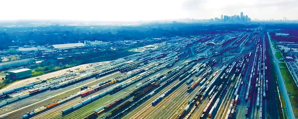 Houston Industrial Commercial Real Estate Market Data and Economic Information - Union Pacific Trainyard North Houston Freight Rail