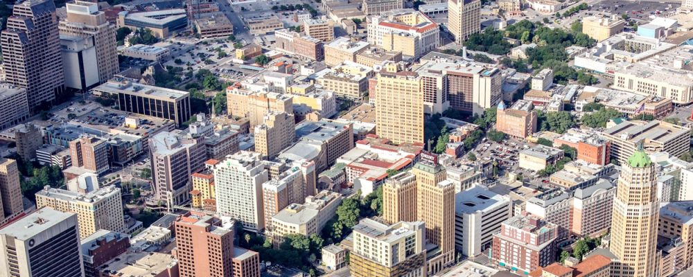 San Antonio Office Commercial Real Estate Market Data and Economic Information - San Antonio CBD downtown aerial